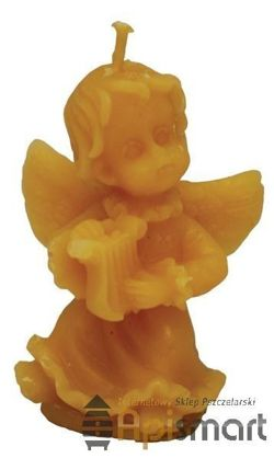Silicone mould for candles' making – Angel with lyre (H-5cm)